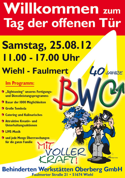... Anderem Durch Einen U201eTag Der Offenen Türu201c Geschehen, Der Am Samstag,  25. August 2012 In Der Zeit Von 11.00 Bis 17.00 Uhr In Faulmert Stattfindet.
